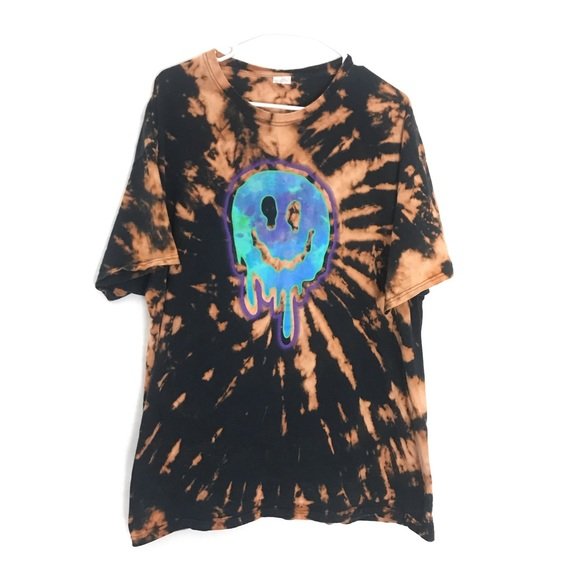Urban Outfitters Other - CUSTOM TIE DYE TRIPPY SMILE FACE T-SHIRT